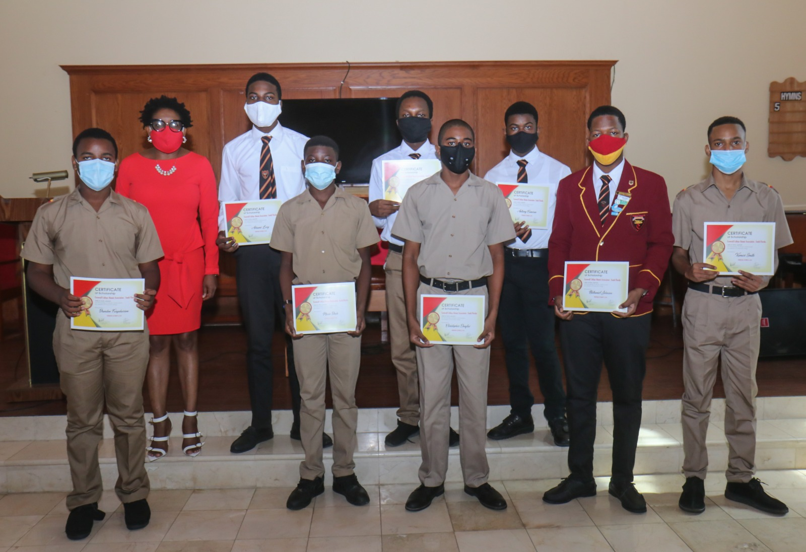 Cornwall College Alumni Association of South Florida 2020 scholarship recipients